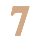 """Основа для творчества и декорирования из папье-маше """"Цифра семь"""" 11*6,4*1,2"""