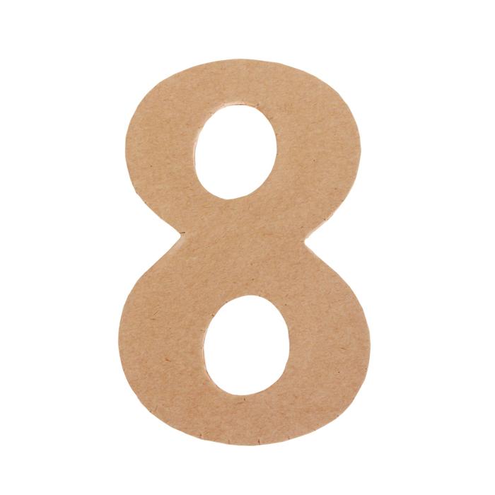 Цифра 8 для открытки на подставке, рисунок