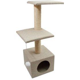 "Дом для кошек ""Две площадки"" непал, 36 х 36 х 100 см"