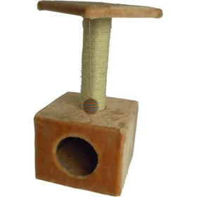 "Дом для кошек ""Квадратный"" бежевый, 30 х 30 х 60 см"