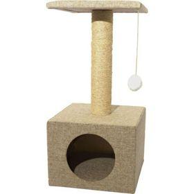 "Дом для кошек ""Квадратный"" непал, 30 х 30 х 60 см"
