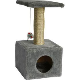 """Дом для кошек """"Квадратный"""" серый, 30 х 30 х 60 см"""