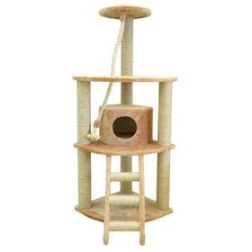 """Дом """"Угловой"""" четырехуровневый с домиком для кошек, 50 х 50 х 145 см"""