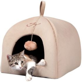 """Домик для кошек """"Вигвам"""" светлый, 41 х 41 х 36 см"""