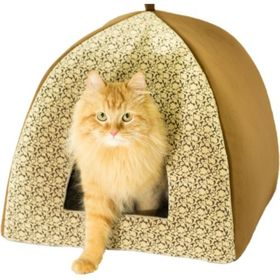 """Домик для кошек """"Вигвам"""" темный, 41 х 41 х 36 см"""