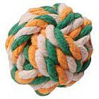 """Игрушка для собак """"Мяч плетеный"""" 7 см, текстиль"""