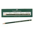 Карандаш художественный чёрнографитный Faber-Castel CASTELL® 9000 профессиональные 2B зелёный