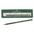 Карандаш художественный чёрнографитный Faber-Castel CASTELL® 9000 проф. 5B зелёный 119005