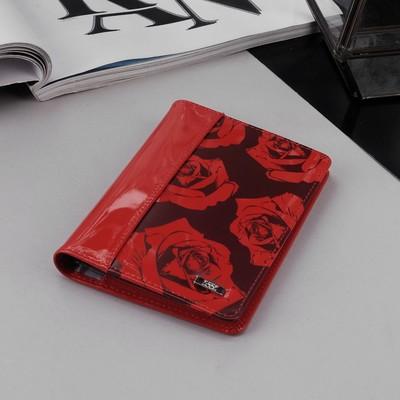 Обложка для автодокументов, 3 кармана для карт, цвет красный