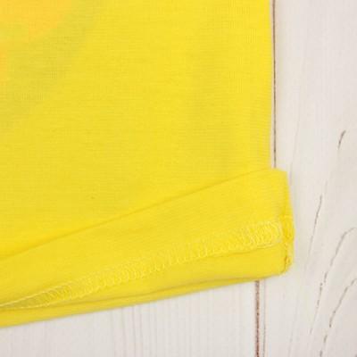 """Пижама для девочки """"Пончик"""", рост 74-80 (24) см, цвет лимонный"""