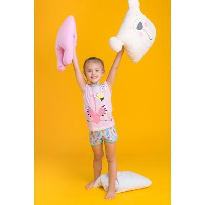 """Пижама для девочки """"Пеликашка"""", рост 98 (26) см, цвет розовый"""