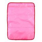 Защитная накидка-незапинайка на спинку сиденья, трёхслойная, 55х40 см, цвет розовый