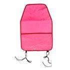 Защитная накидка-незапинайка на спинку переднего сиденья, с карманом, 55х37 см, цвет розовый