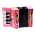 Музыкальная игрушка «Аккордеон», 10 мелодий, МИКС - фото 105637444