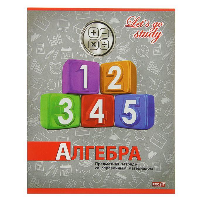 """Тетрадь предметная """"Серебро. Алгебра"""", 36 листов клетка, обложка картон хромэрзац"""