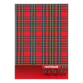 Записная книжка А5, 48 листов «Клетка-шотландка», твёрдая обложка