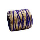 Рафия двухцветная, сине-золотой, 200 м