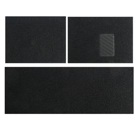 Набор резиновых ковров в салон автомобиля 3 шт, 60х75 см, 150х60 см, черный
