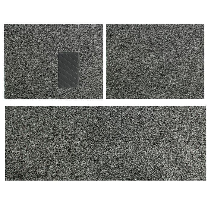 Коврик для авто, универсальный,  60х75 см, 150х60 см, серый, набор 3 шт.