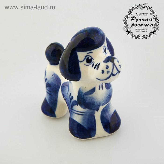 Сувенир «Собака Чарли», символ года, гжель
