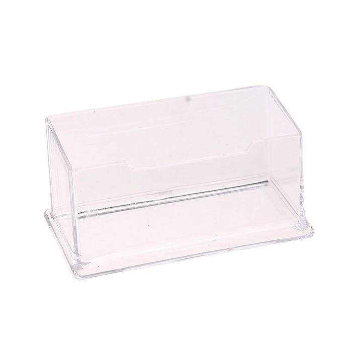 Подставка для визиток прозрачный пластик 1отделение