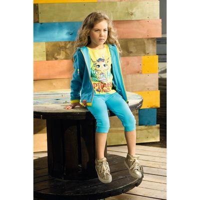 Куртка для девочек, рост 92 см, цвет голубой
