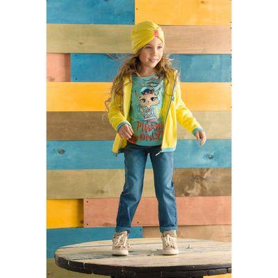 Куртка для девочек, рост 86 см, цвет жёлтый