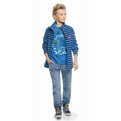 Брюки для мальчиков, рост 146 см, цвет джинс