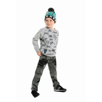 Джинсы для мальчика, рост 98-104 см, цвет серый