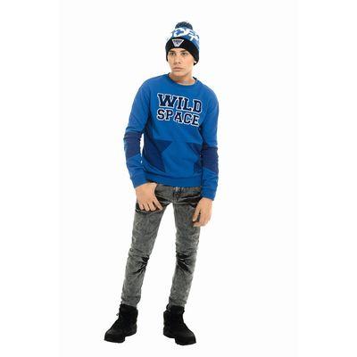 Джинсы для мальчика, рост 128-134 см, цвет серый