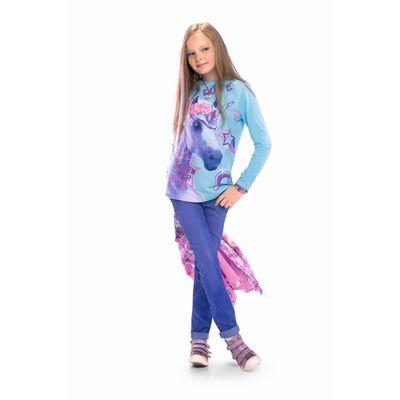 Джинсы для девочки, рост 164 см, цвет голубой