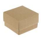 Коробка крафт из рифленого картона 8 х 8 х 3,5 см