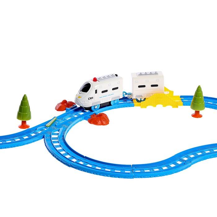 Железная дорога «Пассажирский поезд», со светозвуковыми эффектами