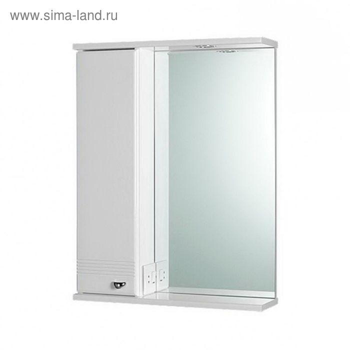 """Шкаф зеркальный AQUALIFE """"Астурия 58"""", белый, левый"""