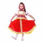 """Русский народный костюм """"Алёнушка"""", платье-сарафан, косынка, р-р 64, рост 122-128, цвет красный"""