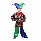"""Карнавальный костюм """"Клоун Кеша"""", рубашка, штаны, шапка, бант, р-р 32, рост 128 см"""