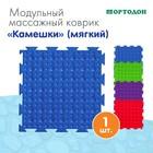 Массажный коврик 1 модуль «Орто. Камешки», цвета МИКС - фото 105575028