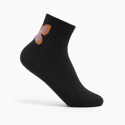 Носки женские, р-р 23-25, цвет чёрный