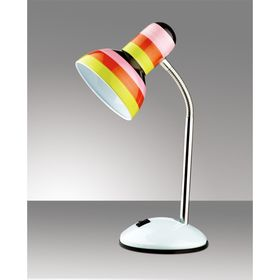 Настольная лампа Flip E27 60W цветные полосы