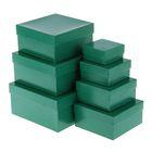 "Набор коробок 7в1 ""Глянец зеленый"" 20 х 20 х 10 - 7 х 7 х 4 см"