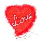 """Светильник настольный резина """"Сердце love"""" красный Е12 220В 17х13х11 см"""