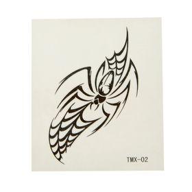 "Татуировка на тело ""Паук в паутине"" 3,5х5,5 см"