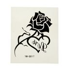 "Татуировка на тело ""Черная роза"" 3,7х4,8 см"