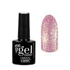 """Гель-лак для ногтей """"Горный хрусталь"""", трёхфазный LED/UV, 10мл, цвет 002 розовый"""