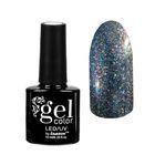 """Гель-лак для ногтей """"Хамелеон"""", трёхфазный LED/UV, для чёрной основы, 10мл, цвет 015 серебряный"""