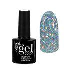 """Гель-лак для ногтей """"Искрящийся бриллиант"""", трёхфазный LED/UV, 10мл, цвет 001 серебряный"""