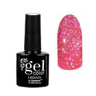 """Гель-лак для ногтей """"Искрящийся бриллиант"""", трёхфазный LED/UV, 10мл, цвет 008 розовый"""