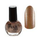 Лак для ногтей с блёстками, 9мл, цвет 099-267 светло-коричневый