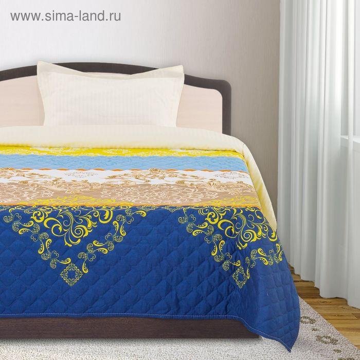 Покрывало ЭКОНОМ рис 75-101 голуб Микс 240х205 см, микро-сатин 75 г/м2