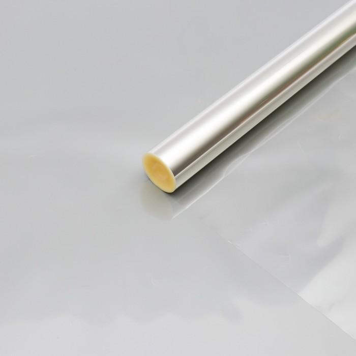 Плёнка для цветов прозрачная 0,6 х 46,5 м, 1000 г, 40 мкм
